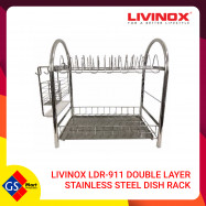 image of LIVINOX LDR-911 DOUBLE LAYER STAINLESS STEEL DISH RACK