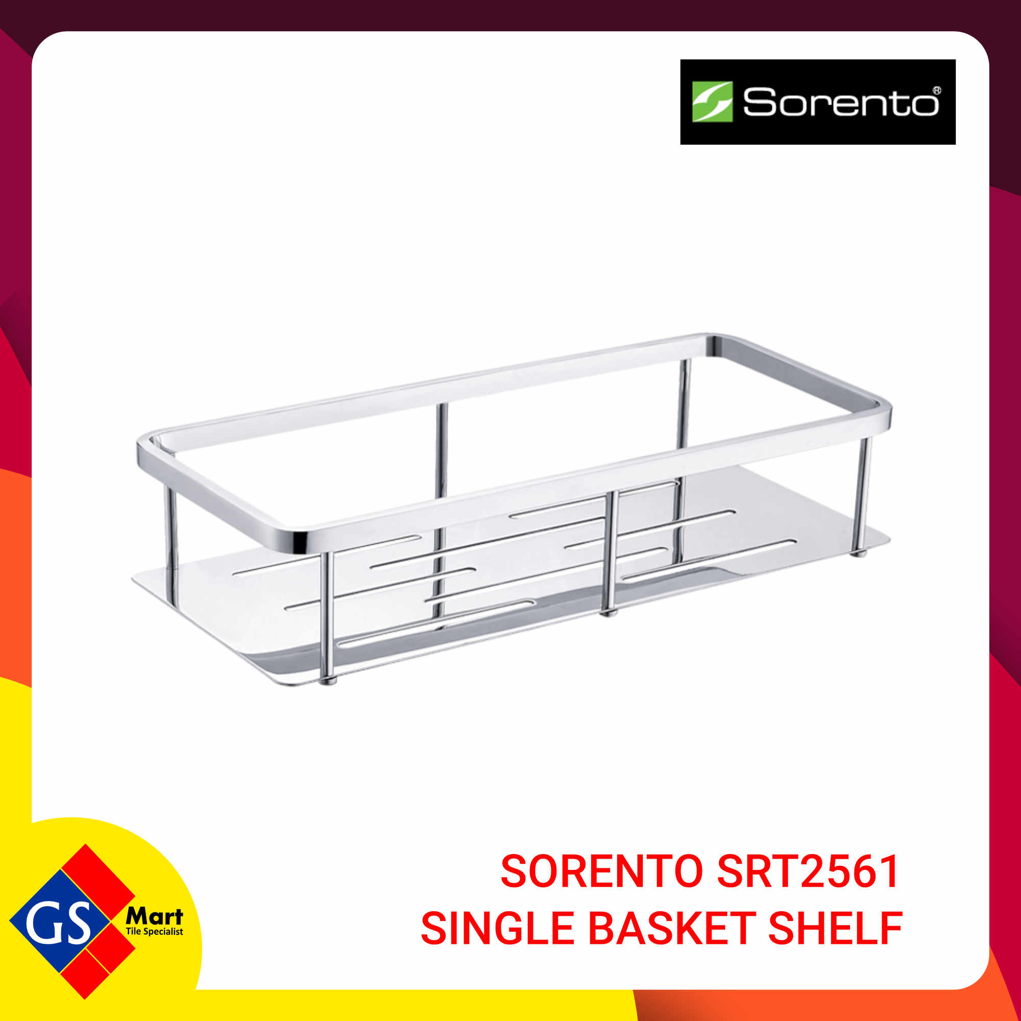 image of SORENTO SRT2561 SINGLE BASKET SHELF