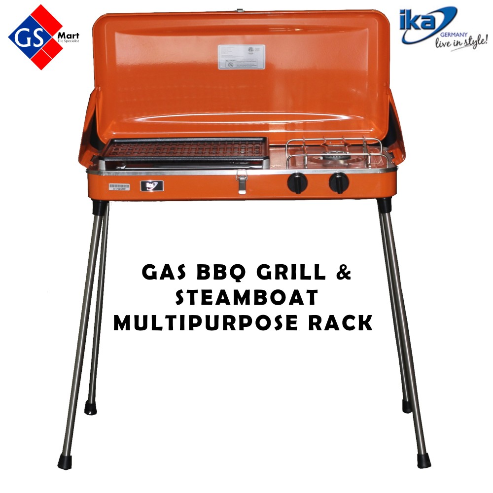 2 in 1 BBQ Grill & Steamboat Multipurpose Rack