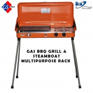 image of 2 in 1 BBQ Grill & Steamboat Multipurpose Rack