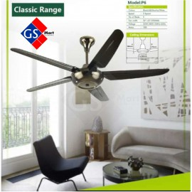 """image of Twin Pack Inovo Remote Control Type Ceiling Fan (5 Blade 56""""/135cm)"""