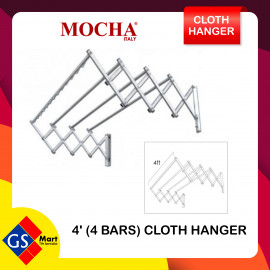 image of STAINLESS STEEL 304 WALL MOUNT CLOTH HANGER 4 FEET 4 BAR