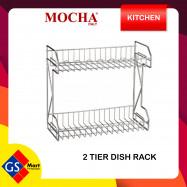 image of 304 Stainless Steel 2 Tier Dish Rack