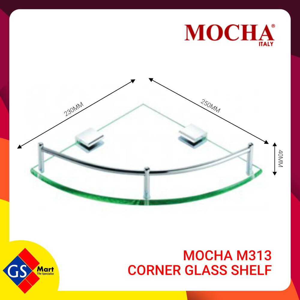 MOCHA M313 CORNER GLASS SHELF