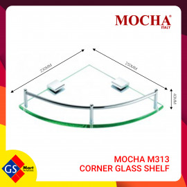 image of MOCHA M313 CORNER GLASS SHELF
