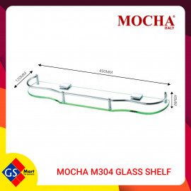image of MOCHA M304 GLASS SHELF