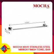 image of MOCHA M441 STAINLESS STEEL MIRROR FINISH TOWEL BAR