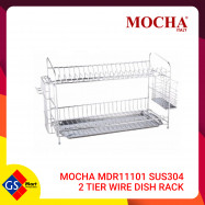 image of MOCHA MDR11101 SUS304 2 TIER WIRE DISH RACK