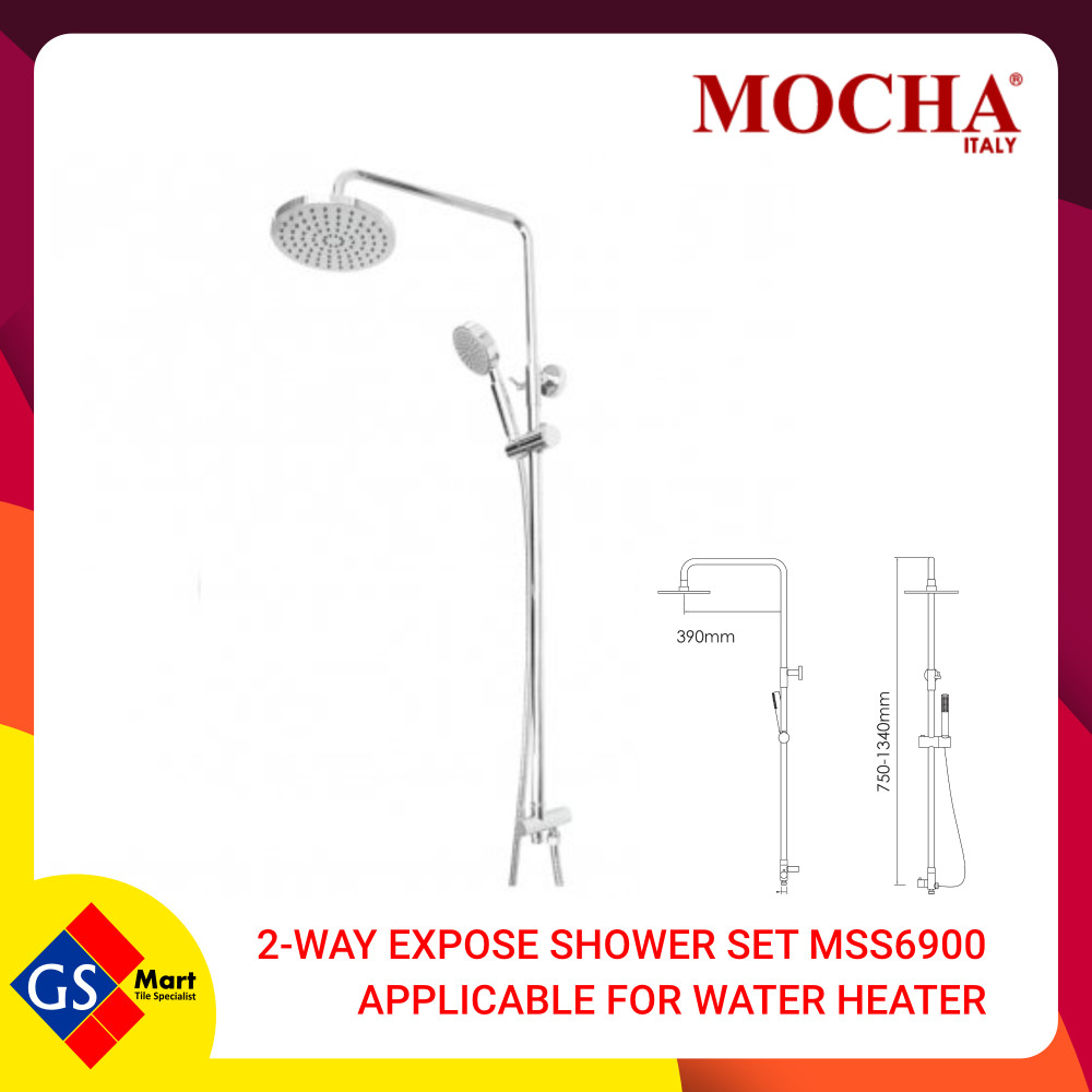 2-WAY EXPOSE SHOWER SET MSS6900 APPLICABLE FOR WATER HEATER