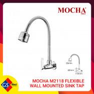 image of Mocha M2118 Flexible Wall Mounted Sink Tap