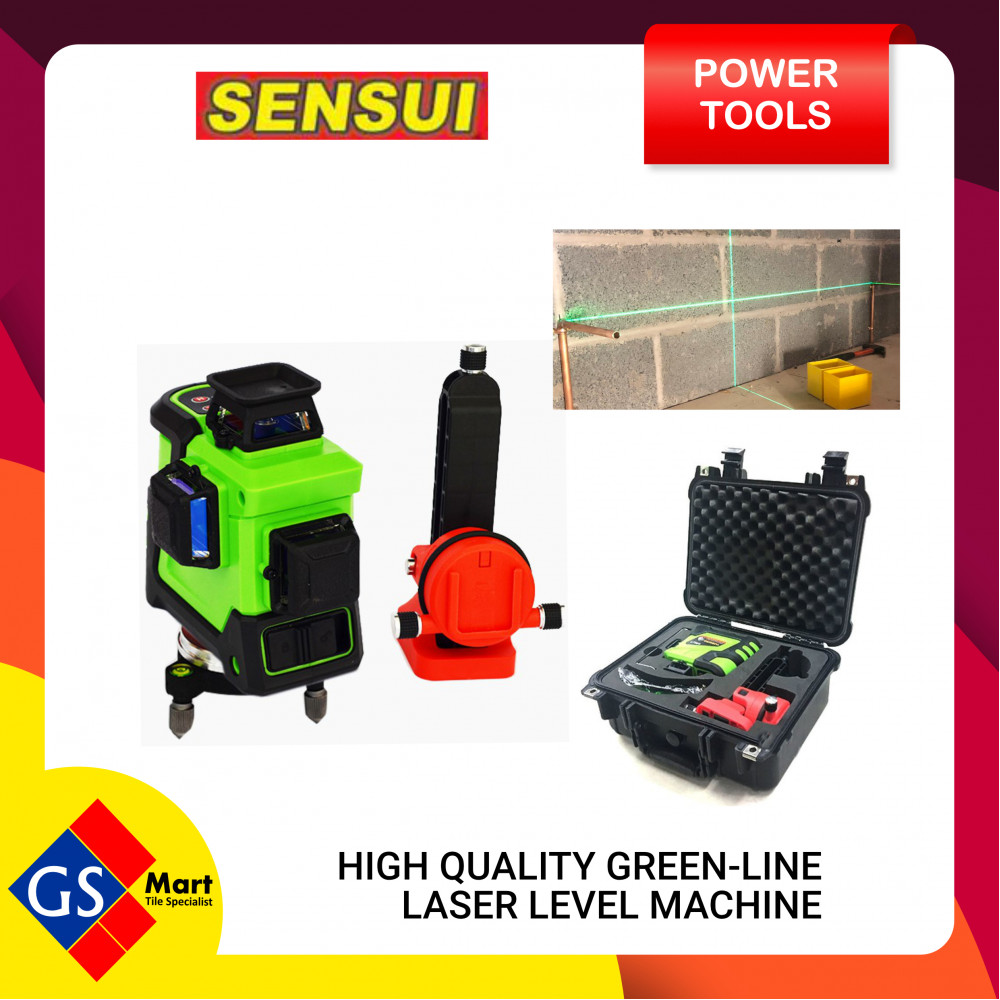 Sensui Laser Level 12 Laser Green Line 360° Horizontal Line