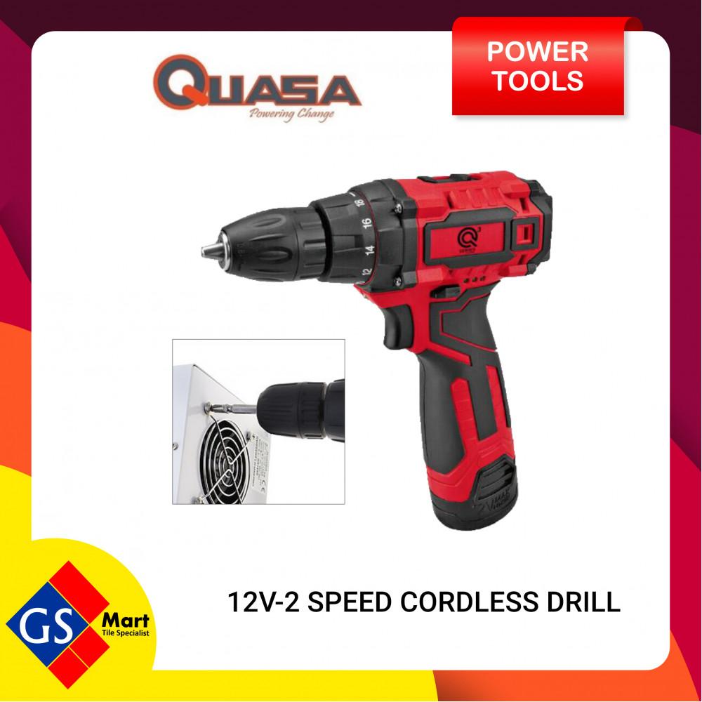 QUASA 12V 2 SPEED CORDLESS DRILL