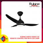 "RUBINE AMPIO SERIES 38"" REMOTE CONTROL FAN WITH LED LAMP"