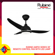 "image of RUBINE AMPIO SERIES 38"" REMOTE CONTROL FAN WITH LED LAMP"