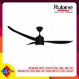 """image of RUBINE RCF-VASTO 56-3BL-BK 56"""" REMOTE CEILING DC FAN WITH LED LIGHT"""