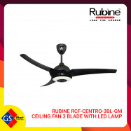 image of Rubine RCF-CENTRO-3BL-GM Ceiling Fan 3 Blade WITH LED LAMP