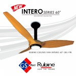 NEW RUBINE DECORATIVE CEILING FAN INTERO 60