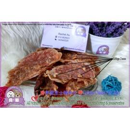 image of cottage cheese pork jerky 茅屋芝士猪肉片 homemade pet treats