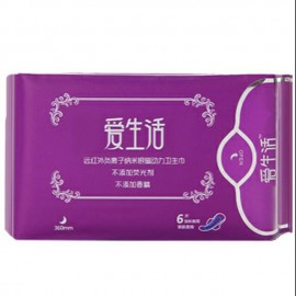 image of sanitary pads 6 pcs (heavy flow ) Disposable Napkin负离子卫生棉