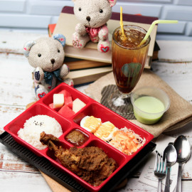 image of Bento set with drinks & dessert for 1 person