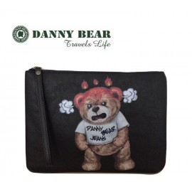 image of Danny Bear Jeans Series Anger Hand Clutch