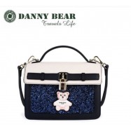 image of Danny Bear Blue Blink Dinner Messenger Bag