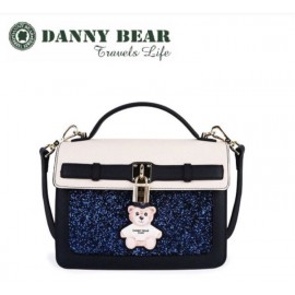 image of Danny Bear Blue Blink Dinner Messenger Bag