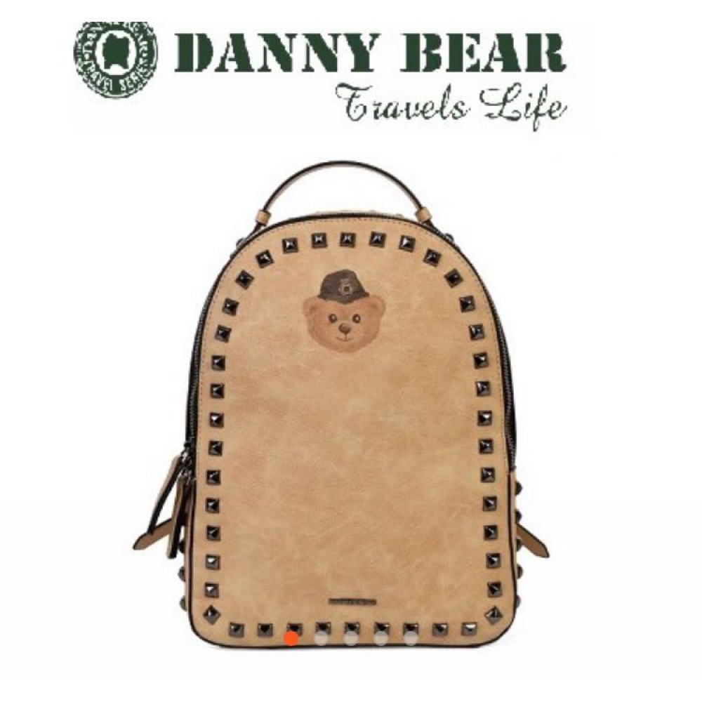 Danny Bear Jeans Series Yellow Colour Backpack Bag