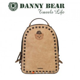 image of Danny Bear Jeans Series Yellow Colour Backpack Bag