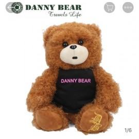 image of Danny Bear Sitting Apron Stuffed Bear 30cm