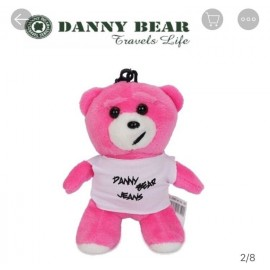 image of Danny Bear Hanging Bear Stand Stuffed Bear
