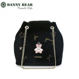 image of Danny Bear Jeans Series Velvet Dinner Sling Bag