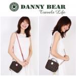 Danny Bear Travel Series Brown Plaid Small Sling Bag