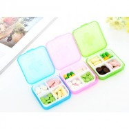 image of Travel Medicine Box Drug Container Pill Plastic Storage Pill Box