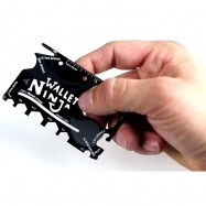 image of NINJA CARD BEER OPENED TOOLS Cell PHONE STAND Travel Wallet Card TSB