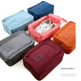 image of Outdoor Travel Shoes Storage Bag Waterproof Portable Packing Cubes Container