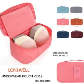 image of Storage Bag Waterproof Compact Travel Organizer Bra Organizer Toiletry Pouch
