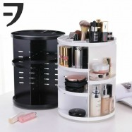 image of VFACTORY Cosmetic Makeup Box 360 Degree Rotation Organizer Display Rack Storage