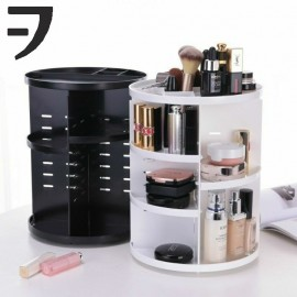 image of VFACTORY Cosmetic Makeup Box 360 Degree Rotation Organizer Display Rack Storage