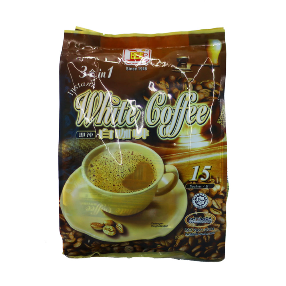 BEE Coffee 3 in 1 Instant White Coffee (15 Sachets)
