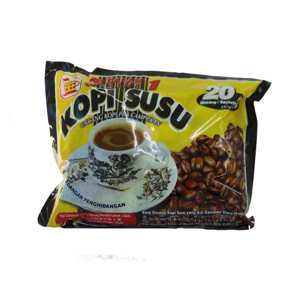 BEE Coffee 3 in 1 Kopi Susu (20 Sachets)