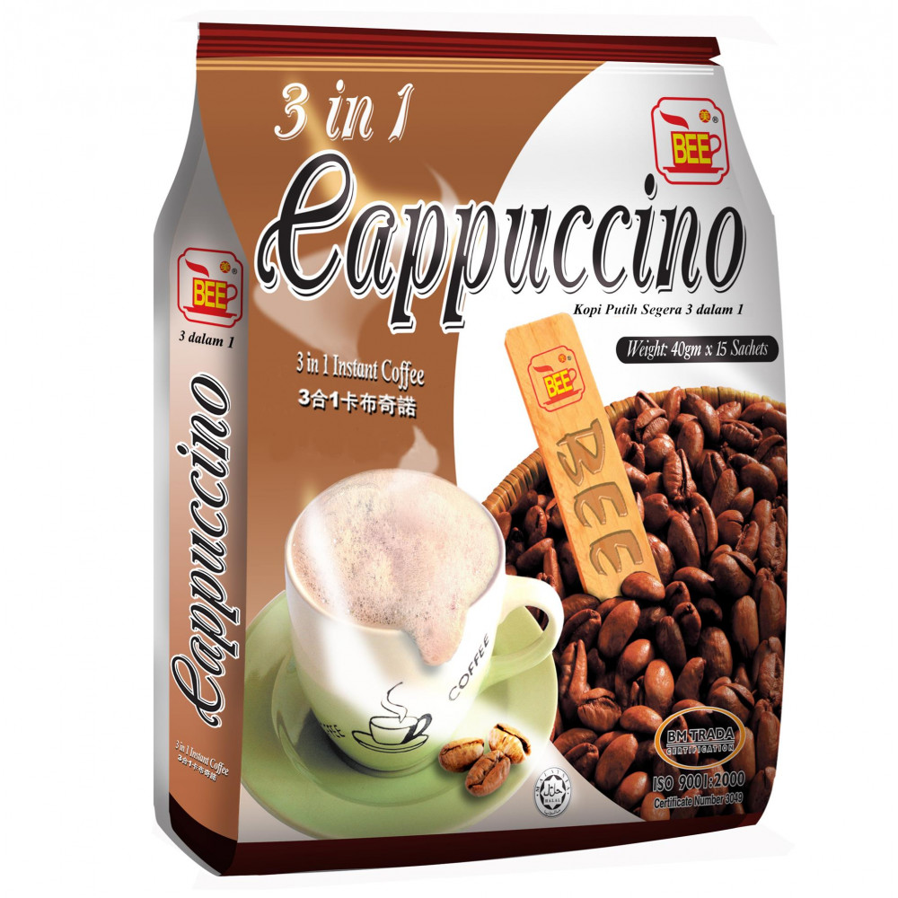 BEE 3 in 1 Instant Cappuccino (15 Sachets)