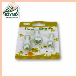 image of EzyMix 3Pcs Heart Shape Plunger Cutter (15-C22)