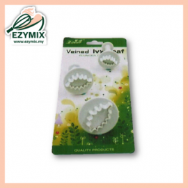image of ExyMix 3Pcs Veined Lvy Leaf Plunger Cutter (15-ZN544)