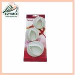 EzyMix 3Pcs Veined Rose Leaf Plunger Cutter (15-ZN530-1)