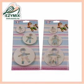 image of EzyMix 3Pcs Cookie Cutter (15-ZN2302)