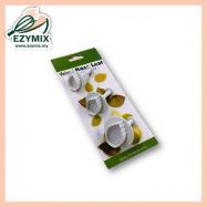 image of EzyMix 3Pcs Veined Rose Leaf Plunger Cutter (s) (15-ZN530/RL530)