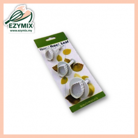 image of EzyMix 3Pcs Veined Rose Leaf Plunger Cutter (s) (15-ZN530/RL530)