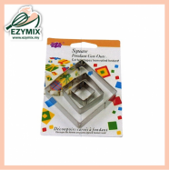 image of EzyMix 3Pcs Square Fondant Cutter (15-E04)