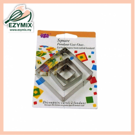 image of EzyMix 3Pcs Square Fondant Cutter (15-E04)